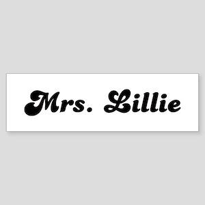 Mrs. Lillie Bumper Sticker