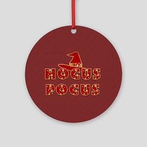 Witches Hat Hocus Pocus Red Ornament (Round)