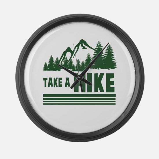 Cute Funny hiking Large Wall Clock