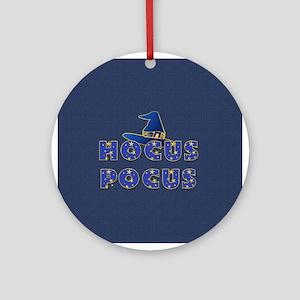 Hocus Pocus Witches Hat Blue Ornament (Round)