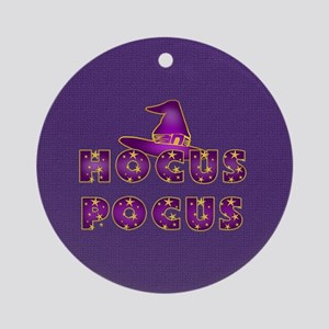 Hocus Pocus Magic Purple Ornament (Round)