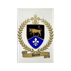 DEVOST Family Crest Rectangle Magnet (10 pack)