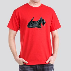 Scottish Terrier Profile Dark T-Shirt
