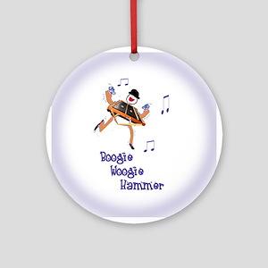 Boogie Woogie Hammer Ornament (Round)