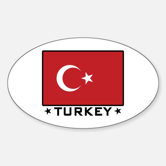 Flag of Turkey Oval Decal