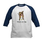 Beware of Dog Kids Baseball Jersey