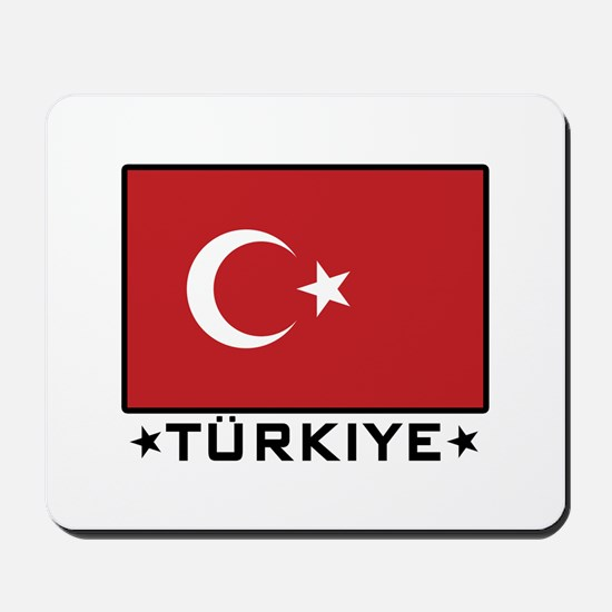 Flag of Turkiye Mousepad
