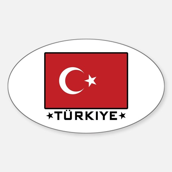 Flag of Turkiye Oval Decal