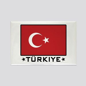Flag of Turkiye Rectangle Magnet