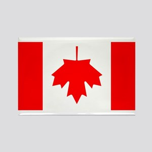 Inverted Canadian Flag Rectangle Magnet