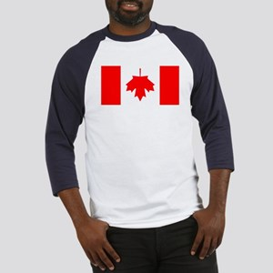 Inverted Canadian Flag Baseball Jersey