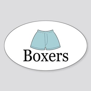 boxers Oval Sticker