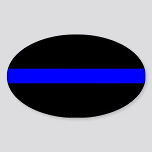 The Thin Blue Line Oval Sticker