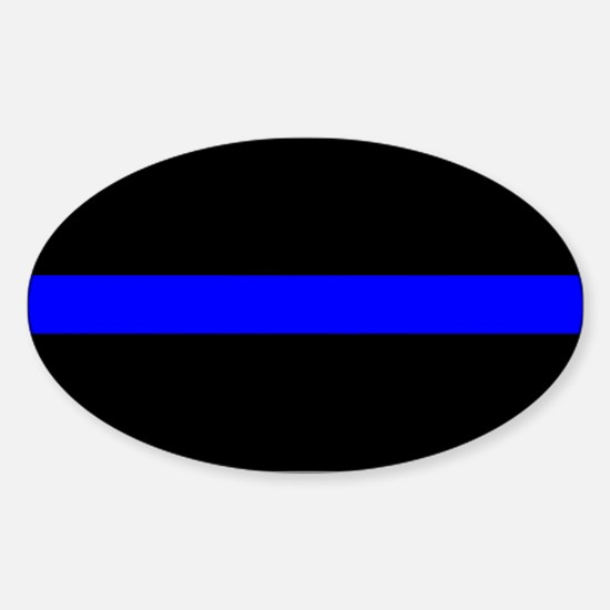 The Thin Blue Line Oval Decal