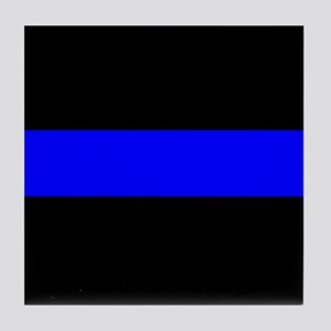 The Thin Blue Line Tile Coaster