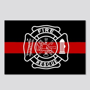 Firefighter Thin Red Line Postcards (Package of 8)
