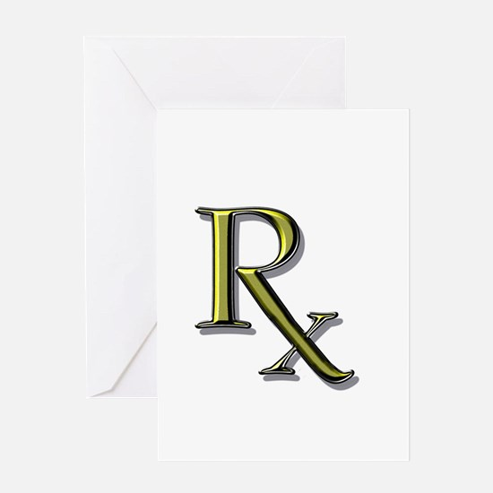 Pharmacy Rx Greeting Card