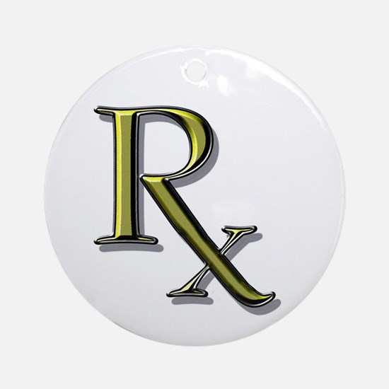 Pharmacy Rx Ornament (Round)