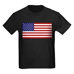 American Flag Kids Dark T-Shirt