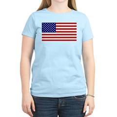 American Flag Women's Light T-Shirt