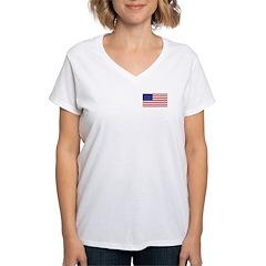 American Flag Women's V-Neck T-Shirt