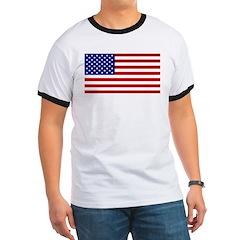 American Flag Ringer T
