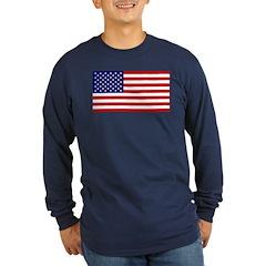 American Flag Long Sleeve Dark T-Shirt