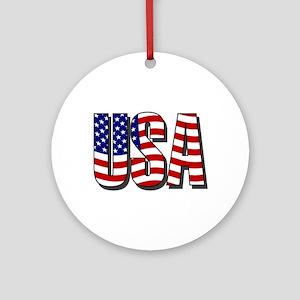 U.S.A. Ornament (Round)