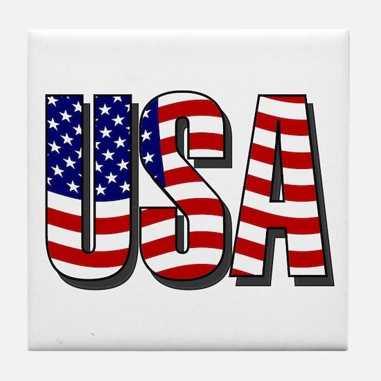 U.S.A. Tile Coaster