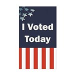 I Voted Today Sticker (Rectangle 50 pk)