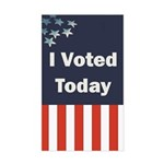 I Voted Today Sticker (Rectangle)