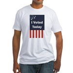 I Voted Today Fitted T-Shirt