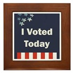 I Voted Today Framed Tile