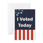 I Voted Today Greeting Cards (Pk of 10)