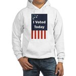 I Voted Today Hooded Sweatshirt