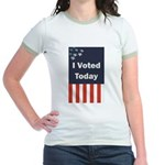 I Voted Today Jr. Ringer T-Shirt