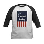 I Voted Today Kids Baseball Jersey