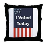 I Voted Today Throw Pillow