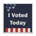 I Voted Today Tile Coaster