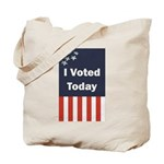 I Voted Today Tote Bag