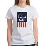 I Voted Today Women's Classic White T-Shirt