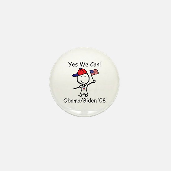 Obama - Yes We Can Mini Button