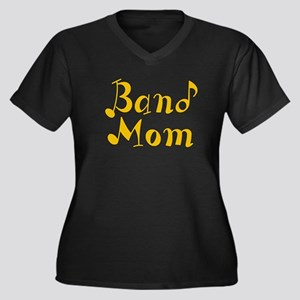 Band Mom 2 Women's Plus Size V-Neck Dark T-Shirt