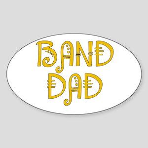 Band Dad Oval Sticker