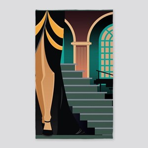 Pretty Woman Descending the Staircase Area Rug