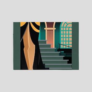 Pretty Woman Descending the Stairca 5'x7'Area Rug