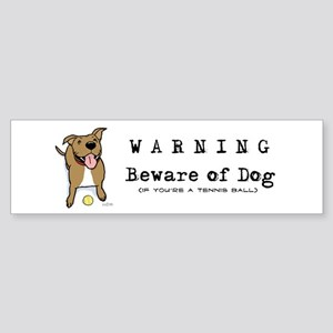 Beware of Dog Bumper Sticker