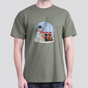 Winter Labrador Dark T-Shirt