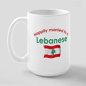 Happily Married Lebanese 2 Large Mug