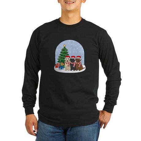 Christmas Lab Long Sleeve Dark T-Shirt